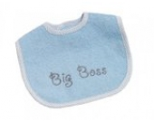 BeBe's Collection 832-23 Mini Klett Lätzchen - Big Boss - blau