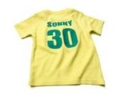Nappy Head Individuelles Baby/Kinder-T-Shirt - Gelb mit kurzen Ärmeln (Fußballhemd),18-24 Monate