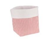 Sugarapple Utensilo Stoff Aufbewahrungsbox aus Baumwolle 19 x 13,5 x 13,5 cm, Stoffbox fürs Bad, als Wickeltisch Organizer oder Windelspender Korb, streifen rot
