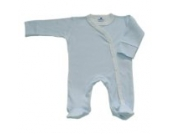 BabywearUK Body Schlafanzug Quer Blau Gestreift- British Made