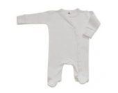 BabywearUK Body Schlafanzug Quer Weiß - British Made