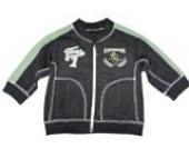 FACTS Baby Jungen Sweatjacke/Sweatshirt,grau/grün,Größe 68