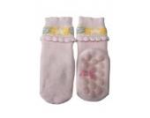 Weri Spezials Vol-Frotee Baby-ABS Soeckchen mit einer 3-D Ruesche in h.Rosa, Gr.15-16 (3-6 Monate)
