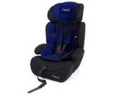Froggy® Autokindersitz Gruppe I/II/III (9-36 kg) + Sicherheitsnorm ECE R44/04 + 5-Punkte-Sicherheitsgurt + verstellbare Kopfstütze Blau