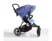 Sonnenschutz Sonnendach Sonnensegel Sonnenverdeck Sonnette® single UPF 80+ für Kinderwagen Dahlia blue