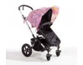 Sonnenschutz Sonnendach Sonnensegel Sonnenverdeck Sonnette® single UPF 80+ für Kinderwagen Rosabella pink