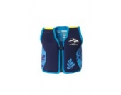 Kinder-Schwimmweste aus Neopren, navy/blue palm, Konfidence Jacket. Größe 6-7 Jahre: 21-26 kg, Brustumfang ca. 66 cm