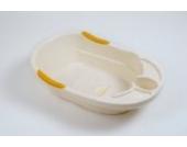 Dr. Schandelmeier 355701 Badewanne Plash Plus, weiß-gelb