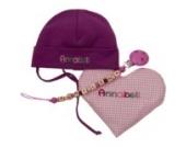 """Geschenkset """"Klassiker"""", Babymütze mit Schnullerkette und Wärmekissen Herz, mit Name, personalisiert, als Taufgeschenk, Mädchen, Junge, Neugeborenen Geschenk zur Geburt, Babygeschenk"""