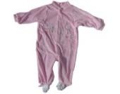 Baby Nicky Schlafanzug einteilig mit Fuß Rosa Größe 50/56 Little Friends