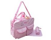 XXL 3 tlg Baby Farbe rosa Wickeltasche Pflegetasche Windeltasche Babytasche Reise Farbauswahl