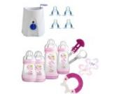 MAM Set 4 - Startset - Flaschen Sauger Flaschen- & Babykoster 21 tlg.- Rosa